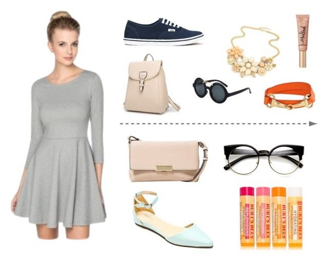"""2 looks"" by nastyanotnoisy on Polyvore featuring мода, Sergio Bari, Vans, Bling Jewelry, Too Faced Cosmetics, MANGO и Burt's Bees"