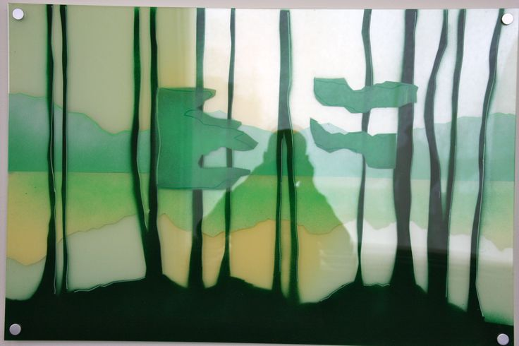 "#elementedenartsearch  ""Wood wood""- Kaja Weum, Three layers of plexiglas and spraypaint. www.kajaweum.com"