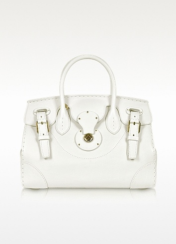 Ralph Lauren Collection Ricky Calf Leather Satchel Tote