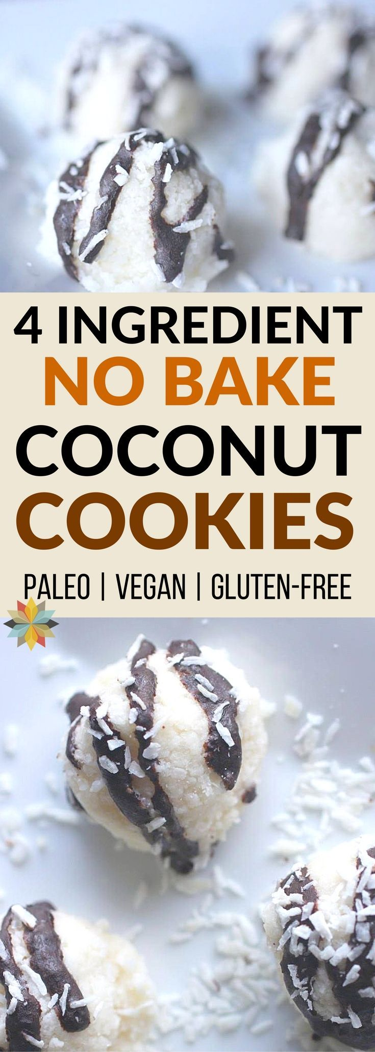 These No Bake Coconut Cookies are our go to when we need a treat on the fly!  They come together super quick and are loaded with healthy ingredients. Plus they're paleo, low carb, and sugar-free too!