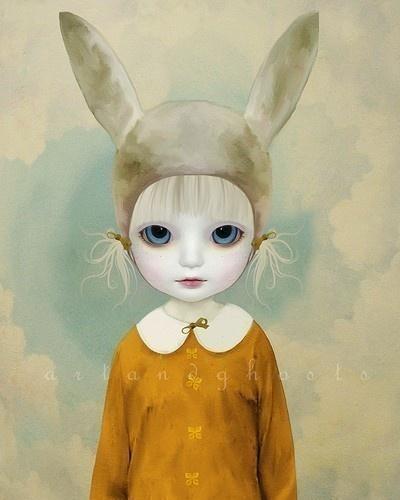 Alice in Wonderland / karen cox.  rabbit