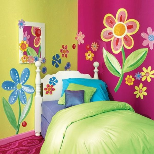 Kinderzimmer Wandbemalung Blumen 600×600 Pixel   Kinder   Pinterest Idea