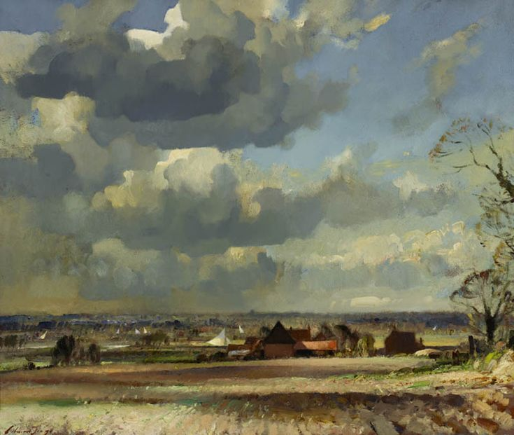 Edward Seago - A Windy Day