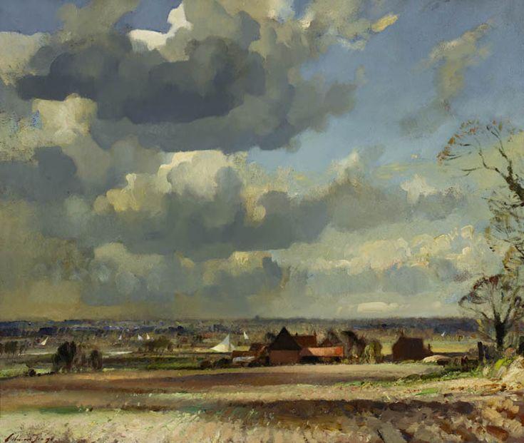 A Windy Day, Edward Seago. English Post Impressionist Painter (1910 - 1974)