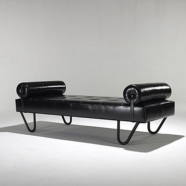 Jacques Adnet, lit de repos , 1950s.