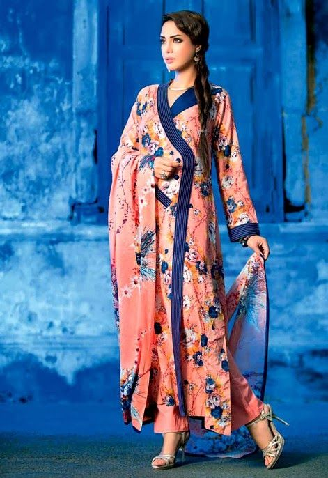 Gul Ahmed Normal Lawn Spring Embroidered. #gulahmedideas, #gulahmedlawncollection2014, #gulahmedcollection2014, #pakistaniclothesbrands, #summercollection2014pakistani