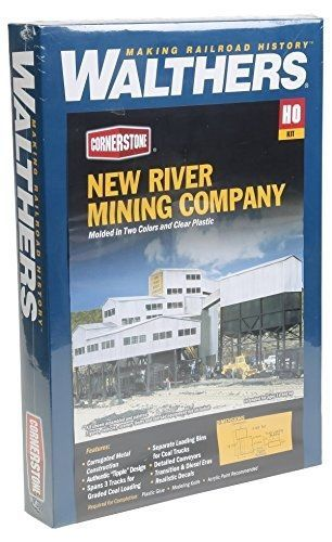 Walthers Cornerstone Series Kit HO Scale New River Mining Company & Accessories #WalthersCornerstoneSeriesKit
