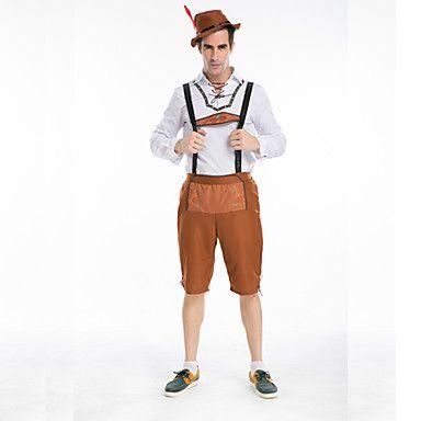 Oktoberfest cosplay de Baviera Guy alemán Lederhosen cerveza Hombre – EUR € 28.49