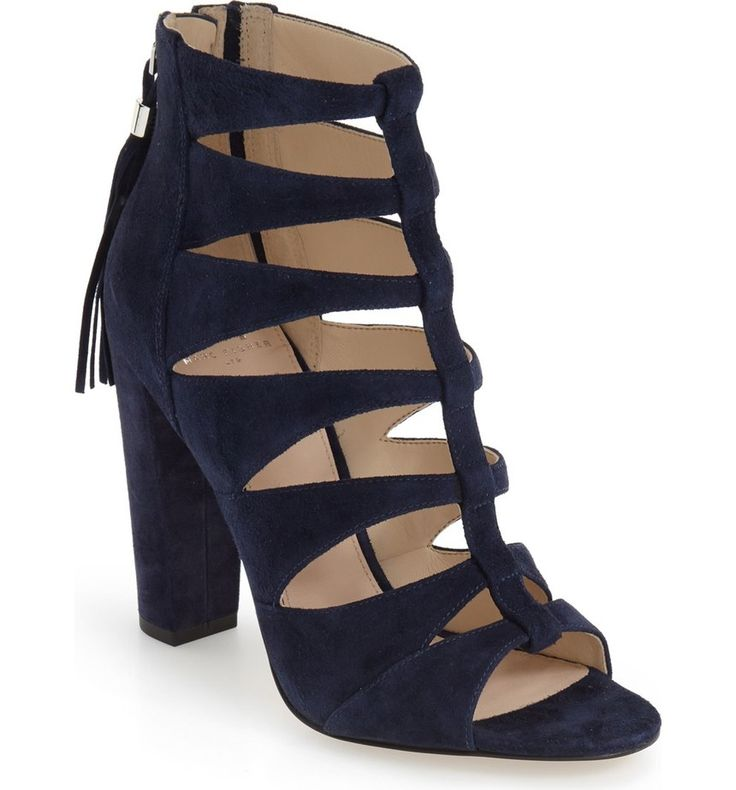Free shipping and returns on Marc Fisher LTD 'Hindera' Gladiator Sandal (Women) at Nordstrom.com. A chunky wrapped heel elevates a modern gladiator sandal crafted from luxurious suede and finished with tassels that swing with every step.