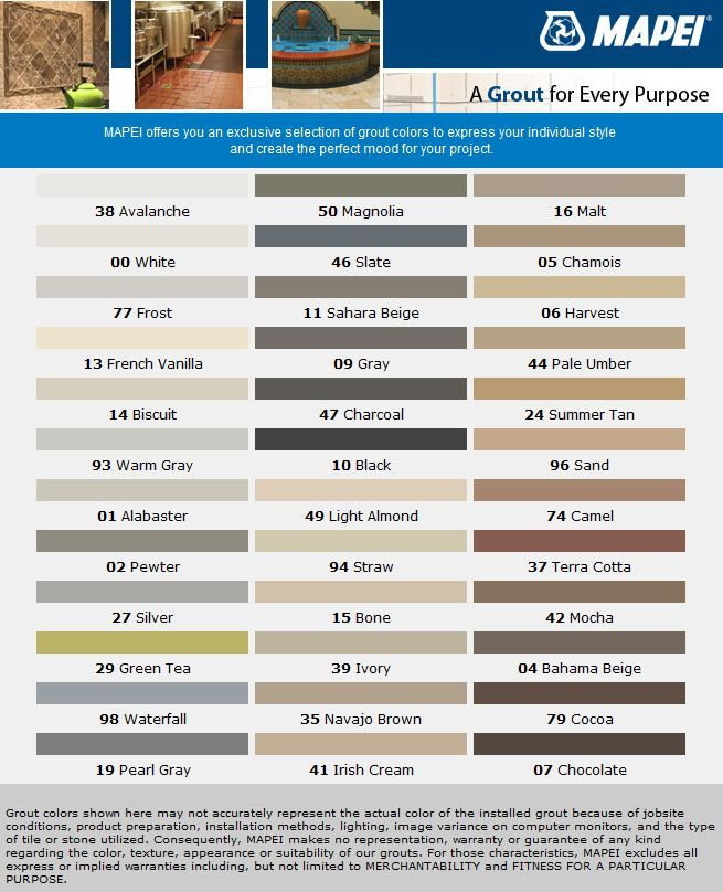COCOA and AVALANCHE It is!!  mapei sanded powder grout chart   | Italian Effect Custom Contracting & Remodelling