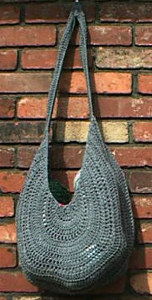 Crocheted Summer Sling Purse free Pattern - I have made and felted this bag before piecing together. Looks great, especially easy for beginner - Ricochet Crochet. Thanks so for pinning xox