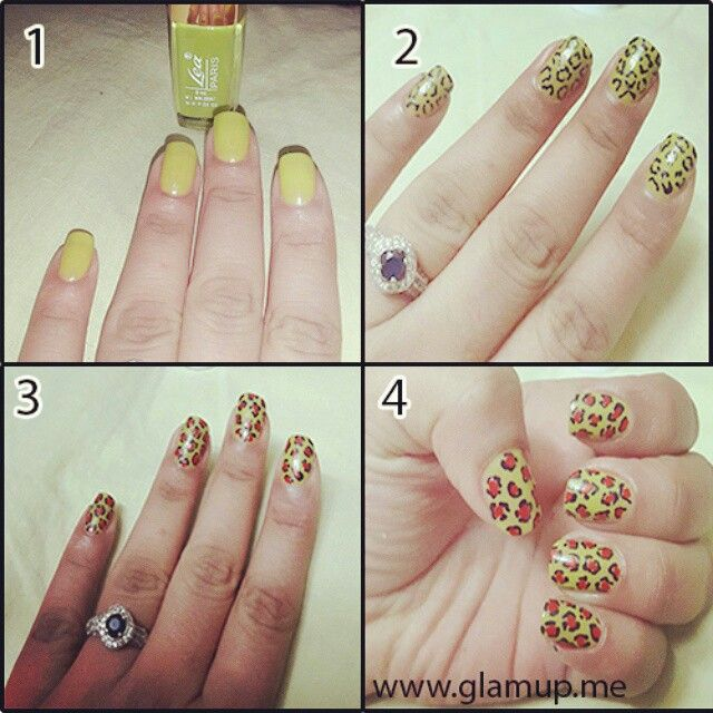 """""""Tiger print nail art more unique and stylish"""" girls live it!!!!!"""