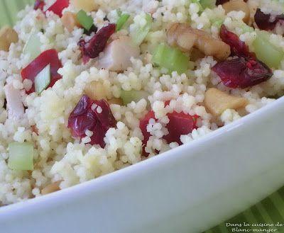 Dans la cuisine de Blanc-manger: Couscous fruité
