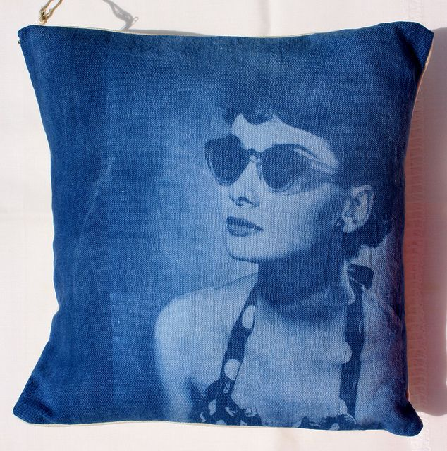 Handmade cushion #inkodye #lumi Audrey Hepburn | Flickr - Photo Sharing!