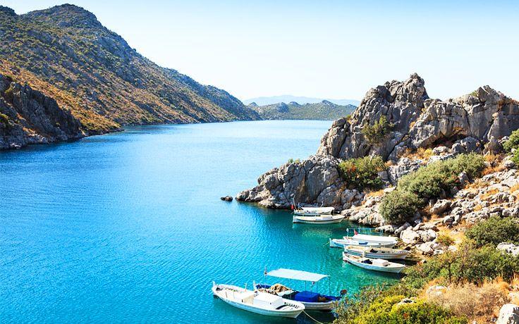 Boats in Bozburun Bay #Turkey #Bozburun #travel