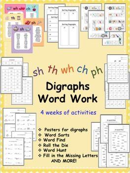 4 weeks of digraph activities
