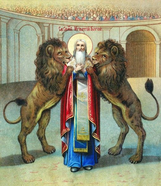 Blessed Memorial of St Ignatius of Antioch- Father of the Church – October 17 #pinterest #stignatiusofantioch On the journey to Rome to be martyred, Ignatius wrote seven letters to the churches he left behind. The letters give insight into the growth of theology. Ignatius praised the love and support he experienced on his way to Rome. He..........