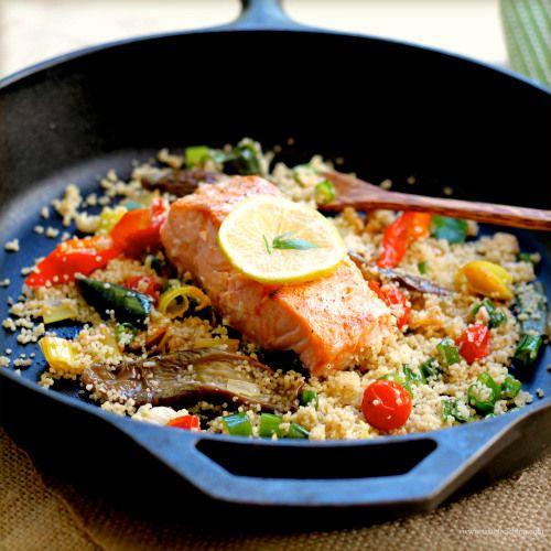 Provencal Salmon Couscous | Fish | Pinterest