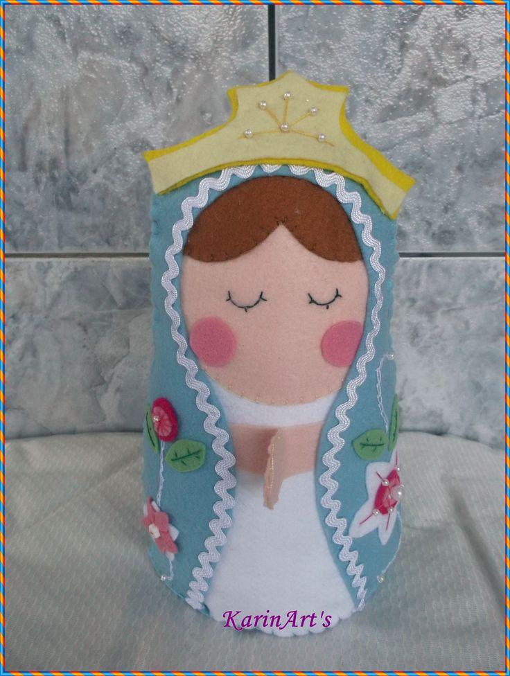 Minha Nossa Senhora de Feltro,baseado nos trabalhos da artesã Chrys Altran.