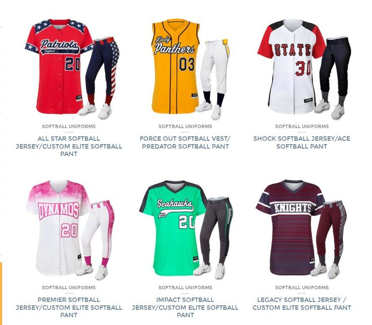 Ready to look like a professional softball team? At Uniform Store we specialize in the design and supply of custom softball uniforms, jerseys, pants, and more. Call us today for a free quote.  http://uniformstore.com/product-category/softball-uniforms/softball-uniforms-uniform-sets/