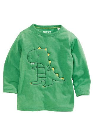 Buy Wadded Dino Long Sleeve T-Shirt (3mths-6yrs) online today at Next: Canada