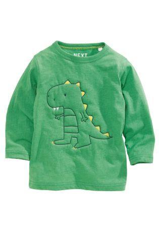 Купить Стеганая футболка с длинным рукавом и динозавром (3 мес.-6 лет) - Покупайте прямо сейчас на сайте Next: Россия
