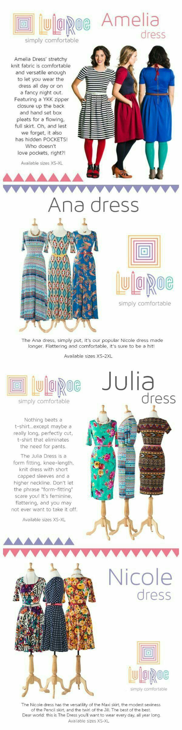 Lularoe Julia amelia dresses carly nicole ana