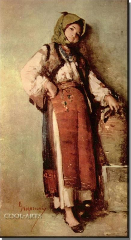 Peasant Woman with Pitcher - Nicolae Grigorescu - WikiPaintings.org