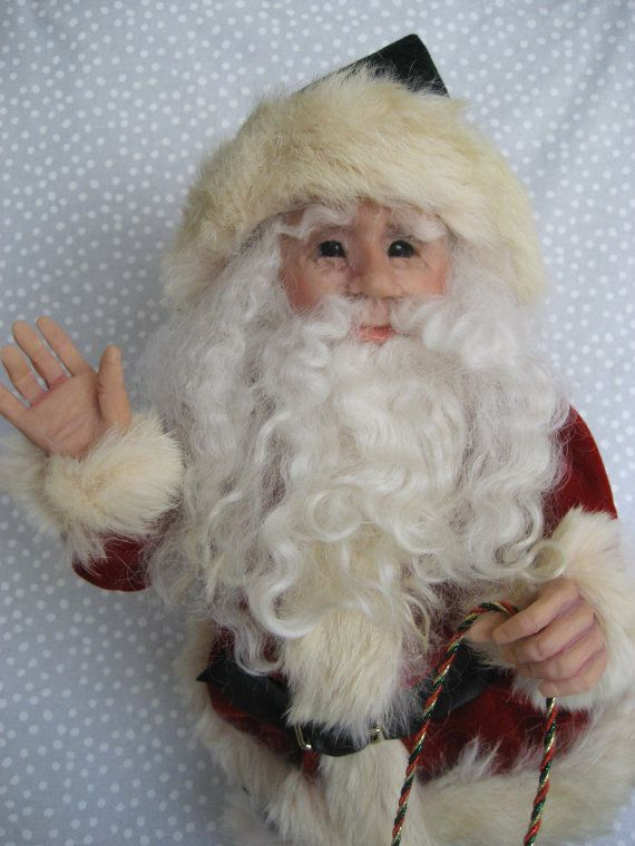 OOAK Terry Richards Art Doll ~ GORGEOUS SANTA with Tree & Sled ~ Come C !! by CreativeIndulgences on Etsy https://www.etsy.com/listing/216364583/ooak-terry-richards-art-doll-gorgeous
