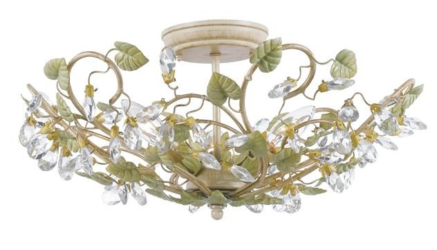 Clearance #4840-CT Crystorama Josie 3 Light Semi-Flush Ceiling Light  Clearance Crystal Chandeliers & Sconces - Brand Lighting Discount Lighting - Call Brand Lighting Sales 800-585-1285 to ask for your best price!