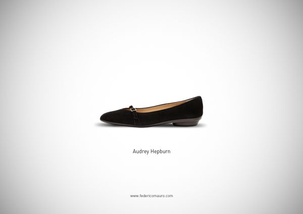 Love audrey hepburn's. // 10 Famous Shoes by Federico Mauro