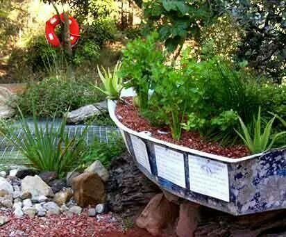 49 Best Boats In The Garden Images On Pinterest Backyard