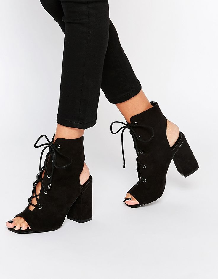 ASOS EDGECOMBE Lace Up Heel Boot