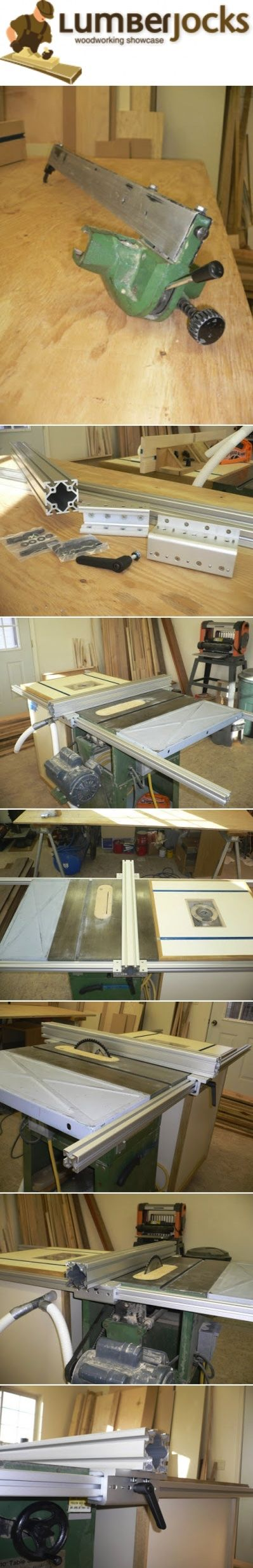 "DIY Table Saw Fence #1: Table Saw Fence two 72"" rails that are 1 1/2"" square…"