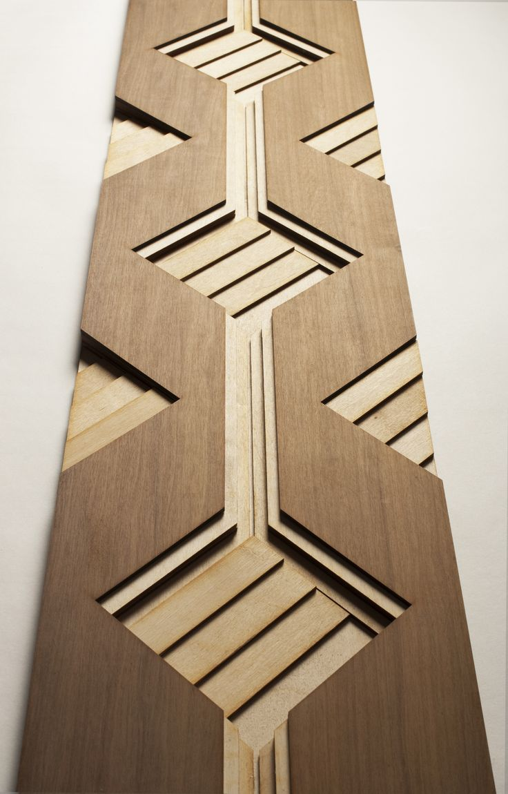 Atelier Anthony Roussel. Carré wood tile, collection 01. Walnut & birch…