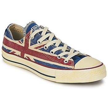 ALL STAR UNION JACK άσπρο / μπλέ / Red  Τα αστέρια της πόλης αναζητούν αυτό το χαμηλό αθλητικό της μάρκας Converse. Τα πάντα συνδυάζονται εύκολα με το υφασμάτινο στέλεχος και τομπλε του χρώμα, προσδίδει άνεση και στυλ. Το μοντέλο All Star Union Jack έχει από καουτσούκ σόλα. Επίσης, έχει εσωτερική υφασμάτινη σόλα αλλά και υφασμάτινη επένδυση. Μια δημιουργία που θα ξετρελάνει τους οπαδούς των sneakers.
