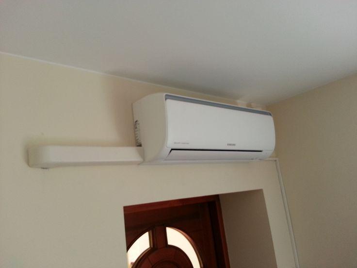 Montaż systemu klimatyzacji Samsung w biurze