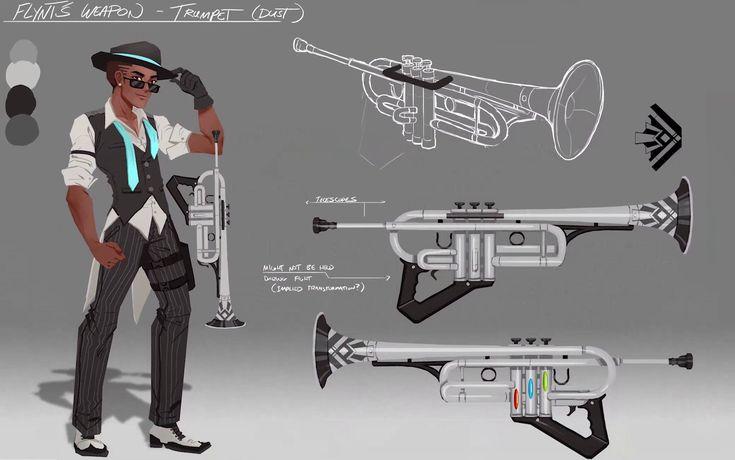 Concept art of Flynt Coal's weapon. #RWBY #TeamFNKI #FantasyWeapons #ConceptArt