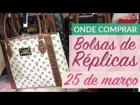 63be0a259 Bolsas Réplica 25 de março - YouTube | Compras | Bolsas 25 de março ...