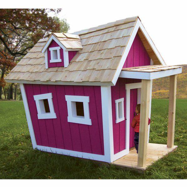 cabane de jardin pour enfant, une maison pourpre en bois