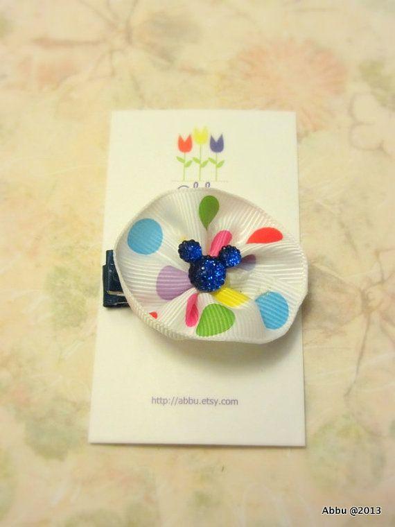 Mickey/ Minnie Mouse Hair Clip Blue Baby Girl Hair Clip by ...