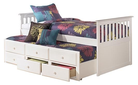 Lulu Twin Trundle Bed w/ Storage - Love the extra storage on this one!! And the trundle for sleep overs!
