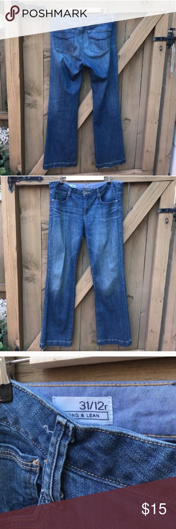 Size 12 long and lean Gap boot cut jeans Size 12 long and lean Gap jeans GAP Jeans Boot Cut