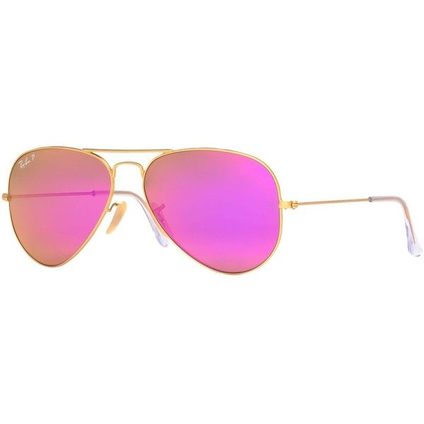 Ray-Ban Sunglasses, RB3025 58 Original Aviator ($200) ❤ liked on Polyvore featuring accessories, eyewear, sunglasses, glasses, glasses/sunglasses, oculos, ray ban aviator, ray ban sunnies, pink glasses and pink aviator sunglasses