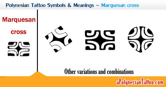 polynesian symbols and their meanings   Sample showing the Polynesian Marquesan cross symbol and its ...
