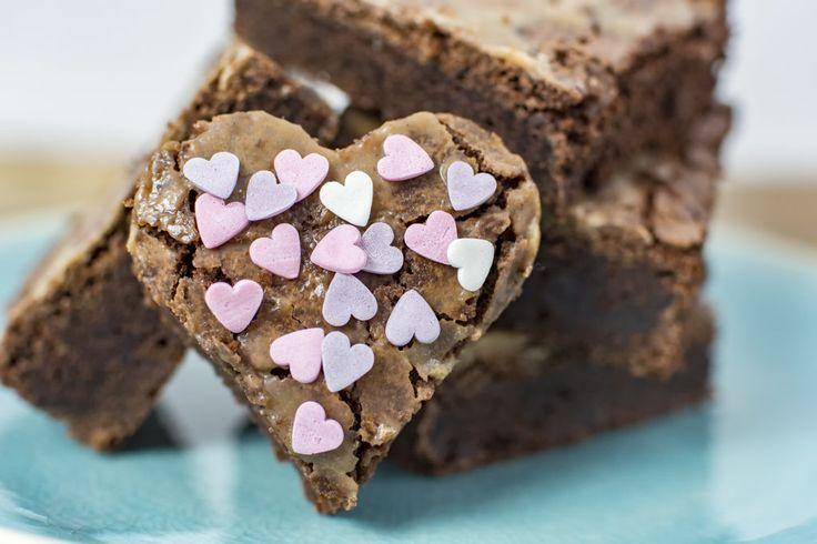 Salted caramel brownies voor Valentijnsdag