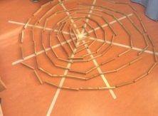 spinnenweb maken met Kapla