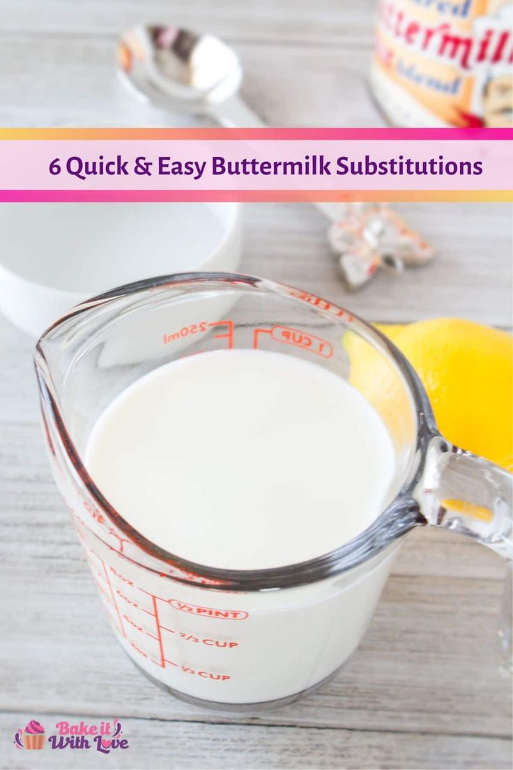 Jun 19, 2020 – Have you ever needed buttermilk, but you forgot to buy it or ran out? With my 6 Buttermilk Substitute opt…