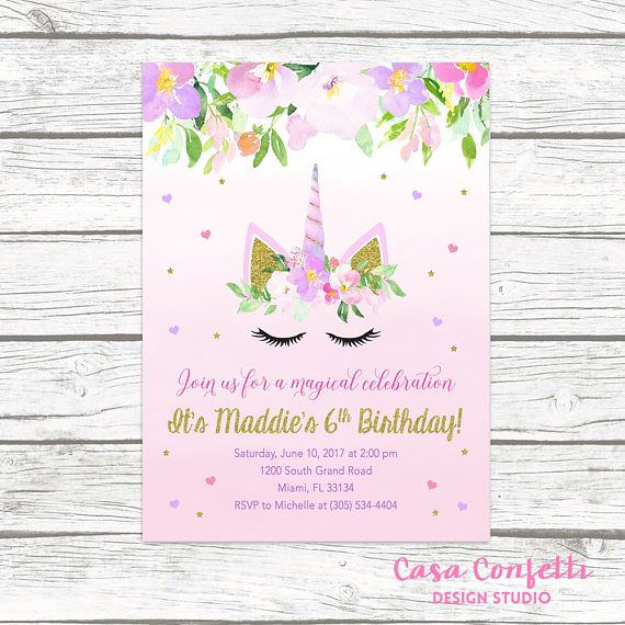 The 25 best Unicorn birthday invitations ideas – Unicorn Birthday Party Invitations