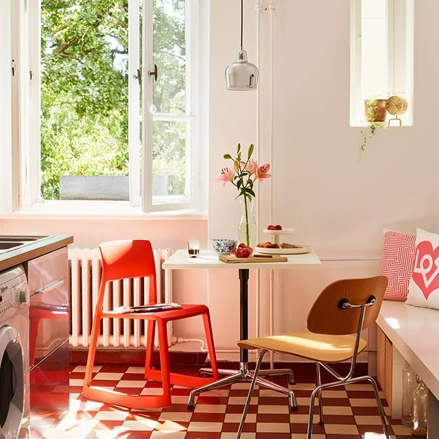 The Bright Red Tip Ton Chair By Barber U0026 Osgerby Fits Perfect In The Sunny  Berlin